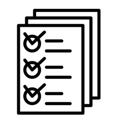 Inventory papers icon outline style vector