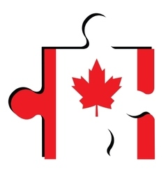 Isolated Canadian flag vector
