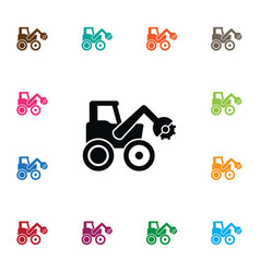 Isolated combine-harvester icon tractor vector