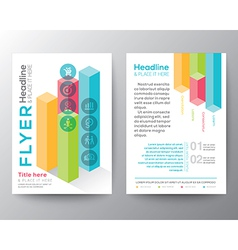 Isometric shape design Brochure Flyer Layout vector image