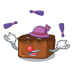 Juggling brownies mascot cartoon style vector