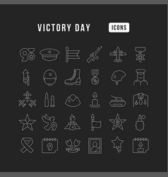 line icons victory day vector image