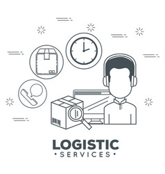 Logistic services with support agent vector