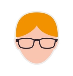Man male person hair head avatar icon vector