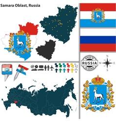 Map of Oblast of Samara vector