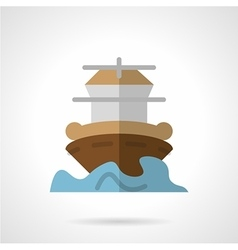 Marine vessel flat color icon vector image