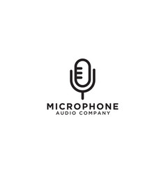 Microphone logo icon template vector