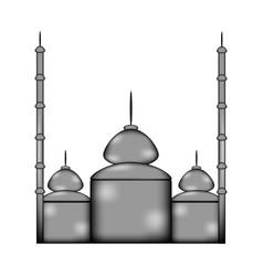 Mosque sign icon vector