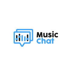music chat logo design inspiration vector image