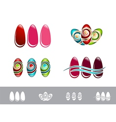 Nail design set vector