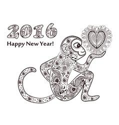 New years monkey vector image
