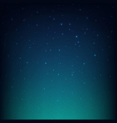 Night starry sky blue space background vector