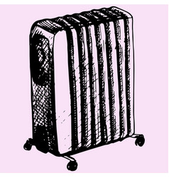 oil heater vector image