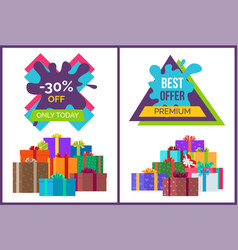 Only today -30 off best premium offer discounts vector