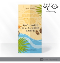 Party Invitation Card Design Template vector image