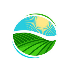 Plantation agriculture logo or label vineyard vector