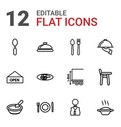 Plate icons vector