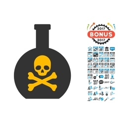 Poison Icon with 2017 Year Bonus Symbols vector