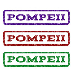 pompeii watermark stamp vector image