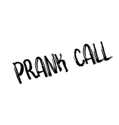 Prank call rubber stamp vector