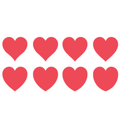 red heart contour love symbol valentines vector image