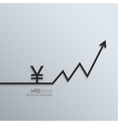 Ribbon yen sign and exchange the curve arrow vector image