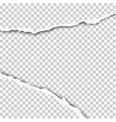 ripped wide hole in transparent sheet of paper vector image