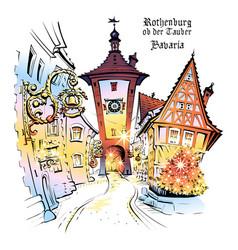 Rothenburg ob der tauber germany vector