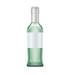 Rum in glassware bottle with clear or empty vector