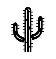 saguaro cactus glyph icon vector image