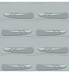 Seamless pattern of abstract canoe background vector