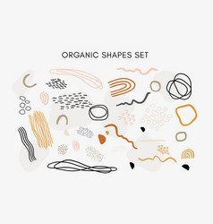 Set hand drawn abstract organic textures vector