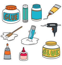 set of glue vector image