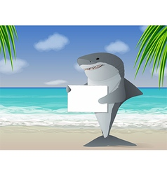 Shark Beach vector image