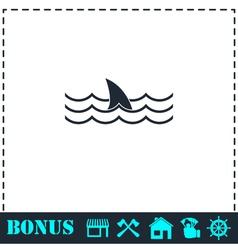 Shark icon flat vector