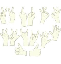 Sketching hand gestures vector