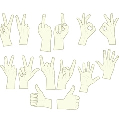 Sketching of hand gestures vector