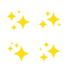 sparkles and stars icons set vector image
