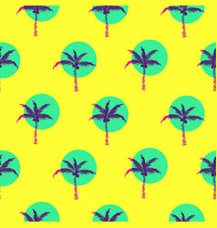 stylized bright yellow palm trees circled style vector image