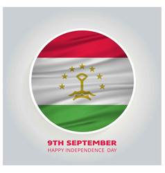 tajikistan 9th september happy independence day vector image
