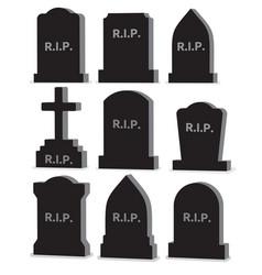 tombstones vector image