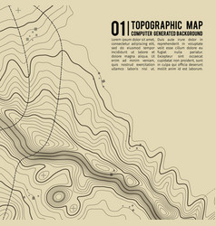 topographic map background with space for copy vector image