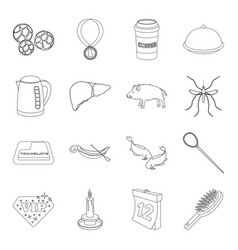 travel cooking hunting and other web icon in vector image