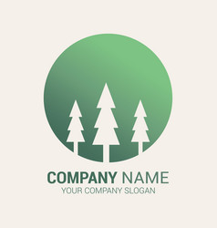tree logo design vector image