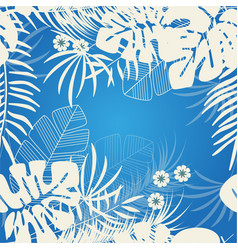 tropical nature background pattern design floral vector image