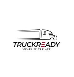truck logo symbol on white background sign vector image