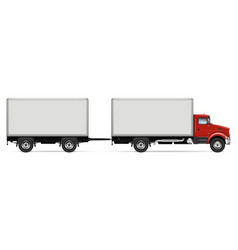 truck with trailer side view vector image