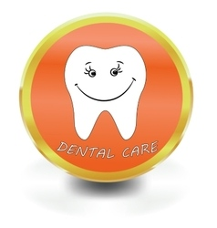 White Tooth Icon dental care vector
