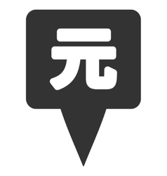 Yuan Map Pointer Flat Icon vector