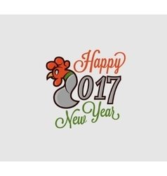 2017 figures with the rooster logo on vector image vector image